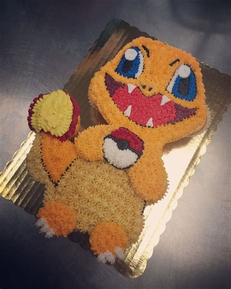 charmander cupcake cake  work   pokemon