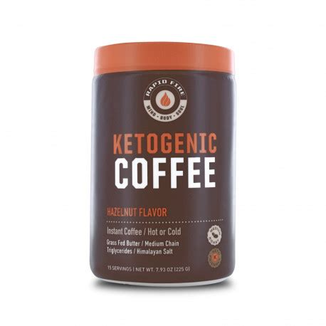 Keto fire features clinically studied ingredients to help support joint function, healthy weight management, cognitive performance and healthy energy levels.† keto fire contains 100 mg per serving of caffeine from organic coffee cherry extract. Rapidfire Ketogenic Coffee Hazelnut 225g 15 Serv - Supermart.ae