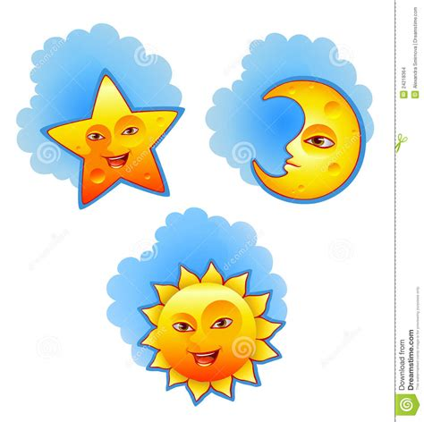 sun moon stars clipart   cliparts  images