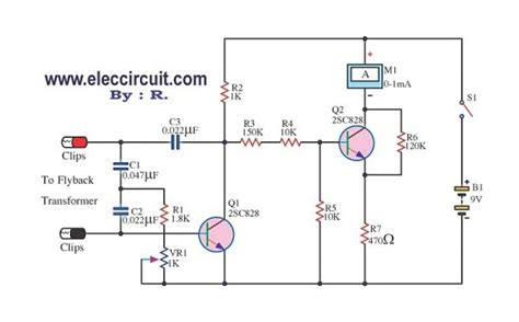 Flyback Transformer Tester Circuit Using