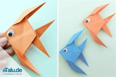 einfache origami figuren origami fisch falten aus papier einfache anleitung talu de
