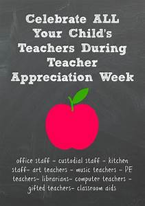Ideas For Teacher Appreciation Week