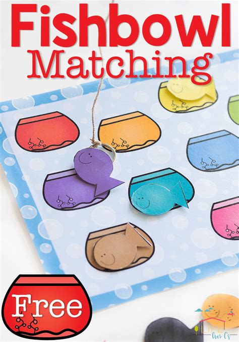 color matching activities for preschool free color matching fishbowl printable for preschoolers 941