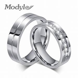 modyle 2017 new cz wedding rings for women men silver With wedding rings for women 2017