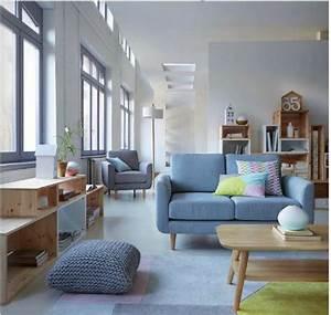 Le canape 2 places jimi coloris pastels et accueil tres for Tapis de yoga avec canape tres moelleux