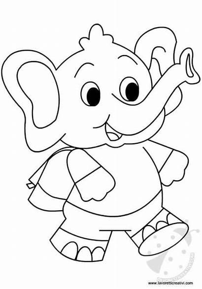Elefantino Coloring Accoglienza Elephant Colorear Dibujos Colorare
