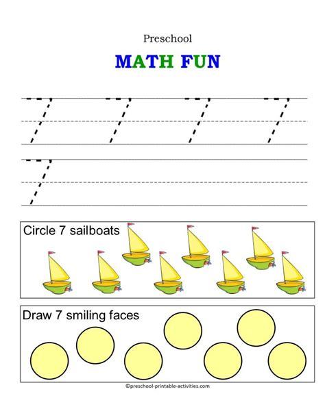 number worksheets fun with numbers preschool homework