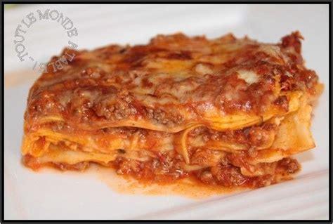 recette lasagne maison italienne lasagnes 224 la bolognaise tout le monde 224 table