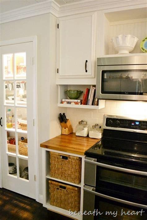 diy   cabinet cook book holder beneath  heart