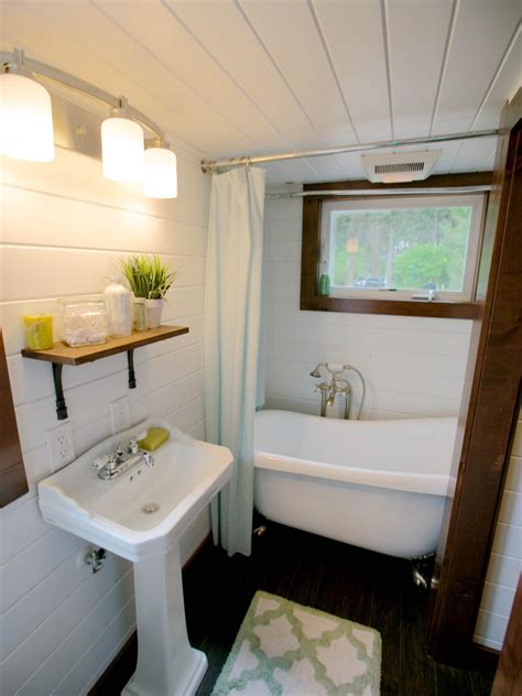 House Bathroom Ideas by 8 Tiny House Bathrooms Packed With Style Hgtv S