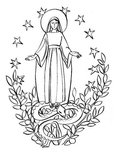 mary   eve catholic coloring page catholic