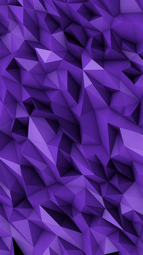 3D Purple Abstract Polygons iPhone 6 / 6 Plus and iPhone 5