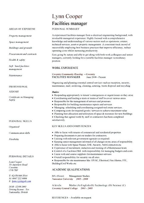 Facility Manager Resume by Facility Manager Resume