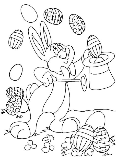 easter bunny cartoon az coloring pages