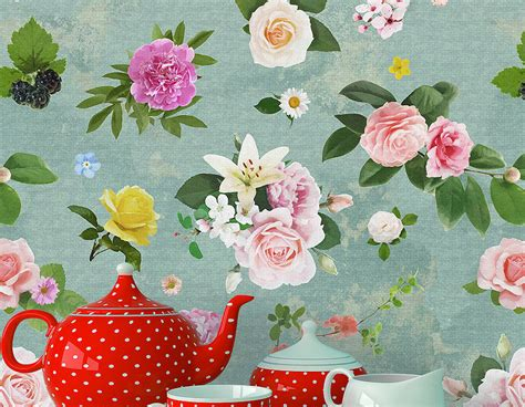 floral shabby chic wallpaper self adhesive shabby chic floral wallpaper contemporary wall stickers