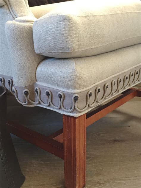 Furniture Upholstery Trim by Design Indulgence Chair Upholstered In Simple Linen Flax