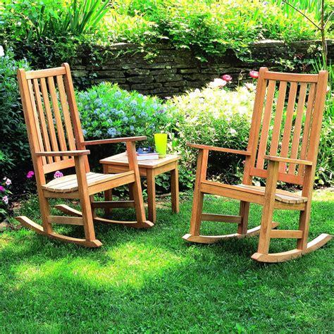 oxford garden franklin 2 person wood rocking chair patio