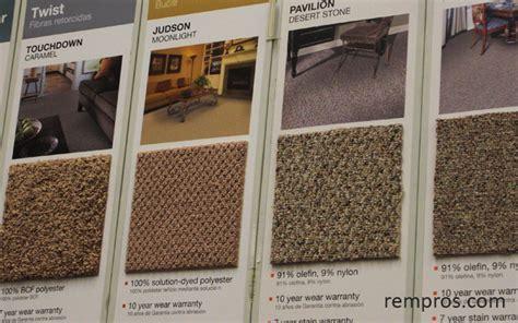 Carpet types ? installing flooring materials.