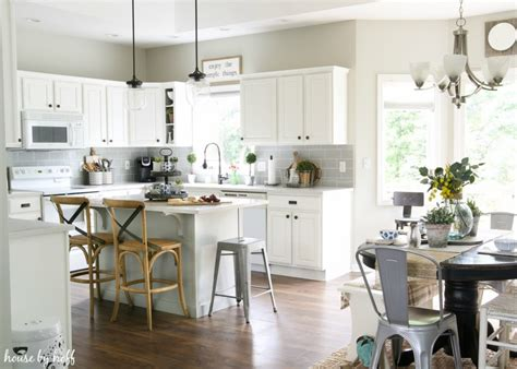 white kitchen makeovers a modern farmhouse kitchen makeover house by hoff 1046
