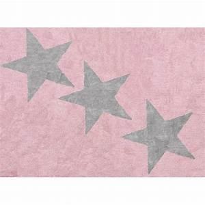 Tapis Etoile Gris : tapis enfant rose etoiles achat vente tapis cdiscount ~ Teatrodelosmanantiales.com Idées de Décoration