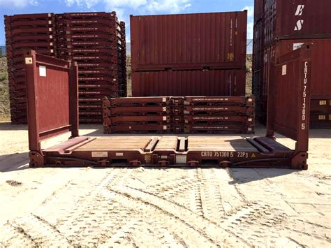 foot flat rack collapsible  shipping containers  sale container traders