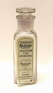 Standard Radium Solution for Drinking (ca. 1915 - 1920)