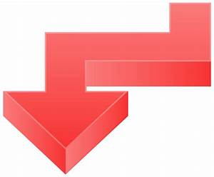 Red Arrow Down PNG Transparent Clip Art Image | Gallery ...