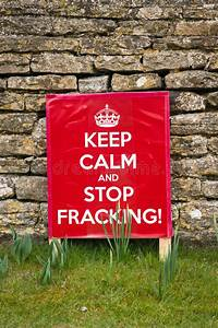 Keep Calm And Stop Fracking Stock Image - Image of ...