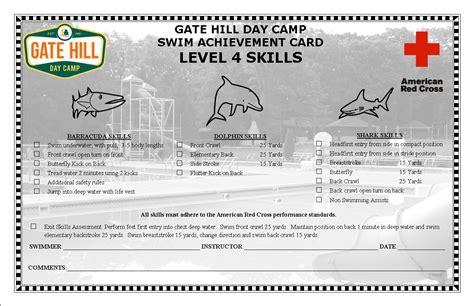 red cross swim levels preschool track your child s swim progression at gate hill day camp 881