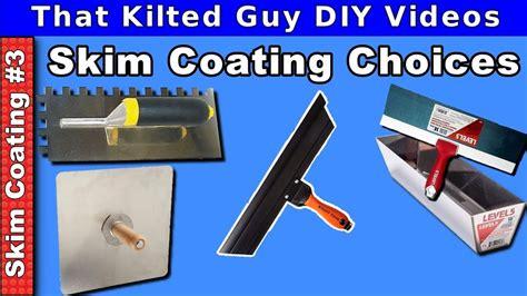 skim coating drywall  tools compared youtube