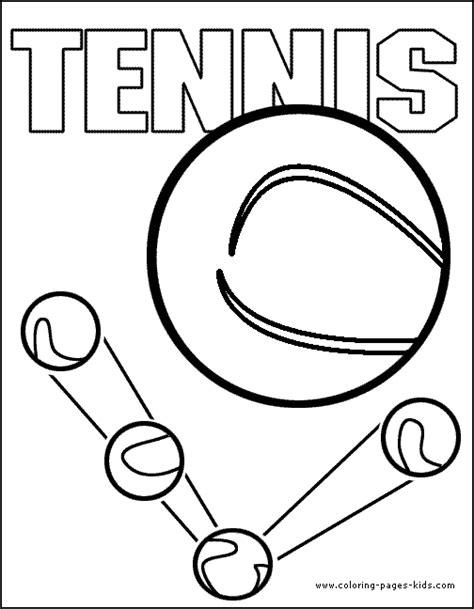 tennis color page coloring pages  kids