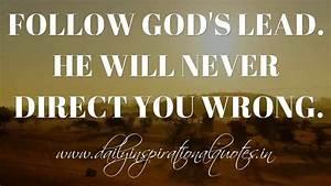 Follow God's ... Anonymous Religious Quotes