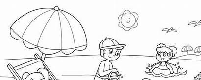 Coloring Sketsa Pantai Sheets Gambar Printable Crayola