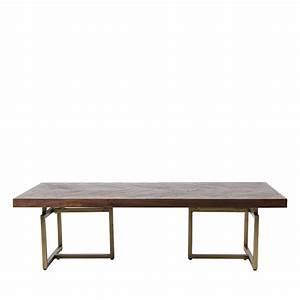 Table Basse Design Bois : table basse design bois d 39 acacia et laiton class ~ Teatrodelosmanantiales.com Idées de Décoration