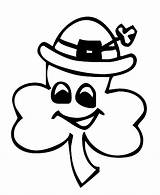 Shamrock Coloring Pages Preschool Printable St Shamrocks Clover Leaf Patricks Patrick Three Leprechauns Hat Clipart Cliparts Drawings Colouring Sheets Template sketch template