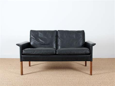 canape en cuir noir canapé 2 places en cuir noir modèle 500 galerie møbler
