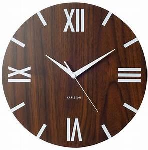Römische Zahlen Uhr : designer karlsson wanduhr holz optik r mische zahlen uhr design ebay ~ Orissabook.com Haus und Dekorationen