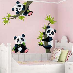 Wandtattoo kinderzimmer pandabaren set for Wandtatoo für kinderzimmer