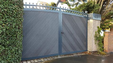 anthracite grey composite infill steelcraft gates