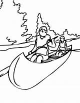 Canoe Coloring Drawing Paddle Pages Boat Pollution Silhouette Drawings Water Colouring Sketch Printable Getdrawings Minaj Nicki Designlooter Sports Cycle sketch template