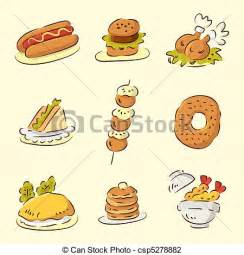 Cute Cartoon Food Drawings
