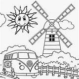 Preschool Windmill Windmills sketch template