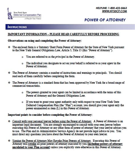 blank power of attorney form ny free new york power of attorney forms and templates