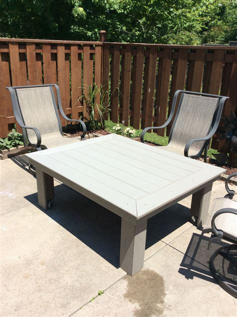 Outdoor Deck Table by Outdoor Coffee Table Made Out Of Composite Decking