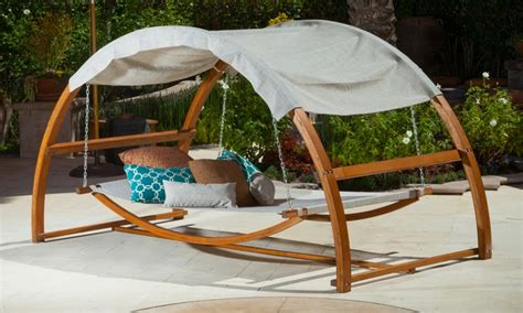 canopy swing outdoor bed rosalie outdoor swing bed and canopy groupon