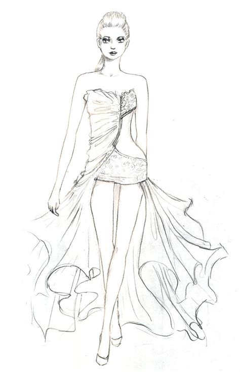 stylish page pencil skirt fashion coloring pages