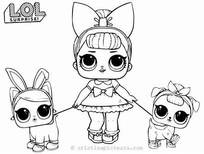 Lol Coloring Dolls Doll Painting Printable Fancy