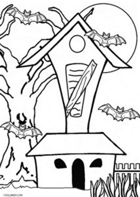 printable haunted house coloring pages  kids coolbkids