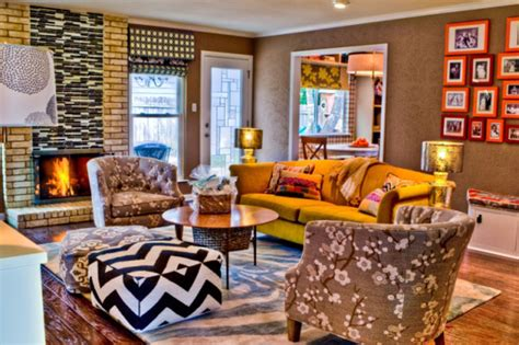 Living Room Poufs by Ottoman Poufs In A Living Room By Turnstyle Interior