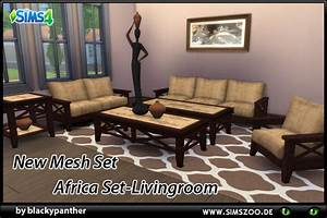 africa set livingroom by blackypanther at blackys sims With living room furniture in south africa